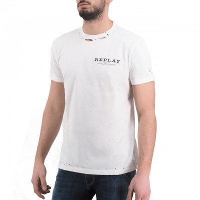 Replay | T-Shirt, Bianco | RPY_M3025 .000.22038 .001