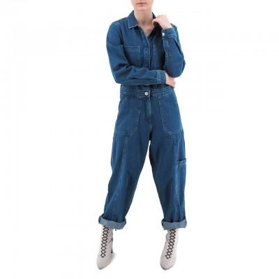 Tommy Hilfiger Jeans | Tuta In Denim, Blu | TMH_DW0DW076881A5