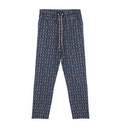 Madson | Pantalone Stampato, Blu | MDS_DU20038 P10
