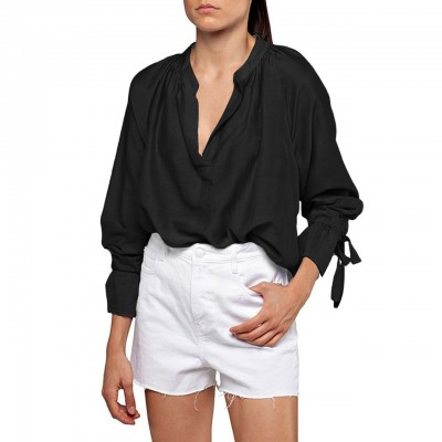 Replay   Blusa Oversize Fit, Nero   RPY_W2312 .000.83038. 098