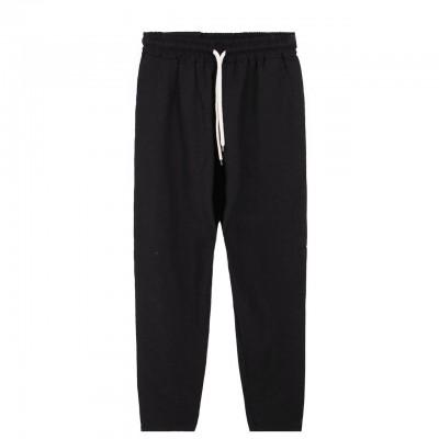 Ko Samui | Basic Trousers Linen, Nero | KSU_CL BASIC SS20 BLK