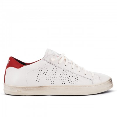 P448 | Sneaker John Cream/Red Beige | P448_F20JOHN CREAM/RED