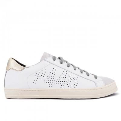 P448   Sneaker John Whi/Pla Bianco   P448_F20JOHN WHI/PLA