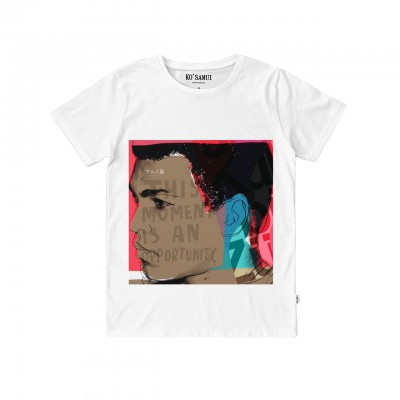 Ko Samui | Graphic Sangfroid T-Shirt, Bianco | KSU_TT C72 SANGFROID WHT