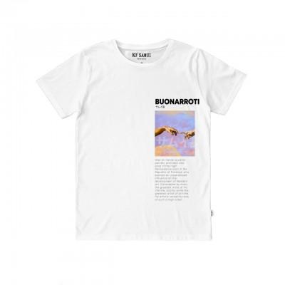 Ko Samui | Art Fresco T-Shirt, Bianco | KSU_TT C36 FRESCO WHT