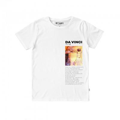 Ko Samui | Art Vetruvian T-Shirt, Bianco | KSU_TT C35 VETRUVIAN WHT