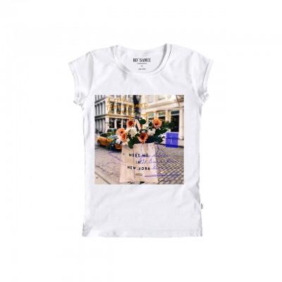 Ko Samui | Graphic Footnote T-Shirt, Bianco | KSU_TA C55 FOOTNOTE WHT