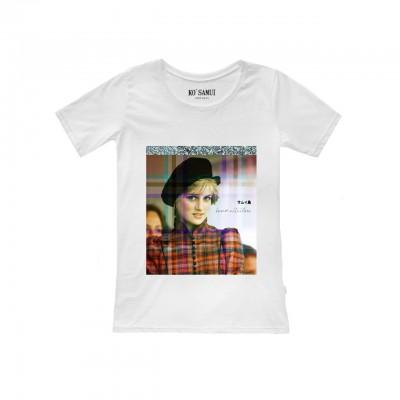 Ko Samui | Shine Spencer T-Shirt, Bianco | KSU_TF C18 SPENCER WHT
