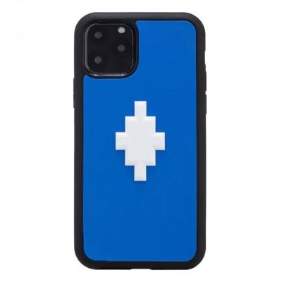 Marcelo Burlon | Cover 3D Cross Blue iPhone 11 Pro Blu | MBU_M1958-3DCROSSBLUE
