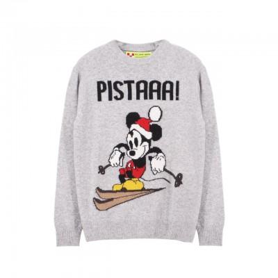 MC2 Saint Barth | Round-Neck Sweater Mickey Pista, Grigio | MC2_HER001 MKPT1L
