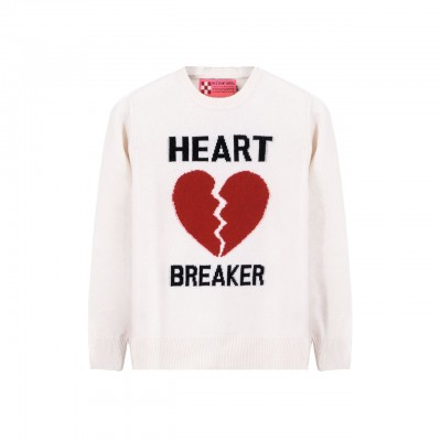 MC2 Saint Barth | Crewneck Sweater Heart Breaker, Bianco | MC2_QUE001 HRBR10