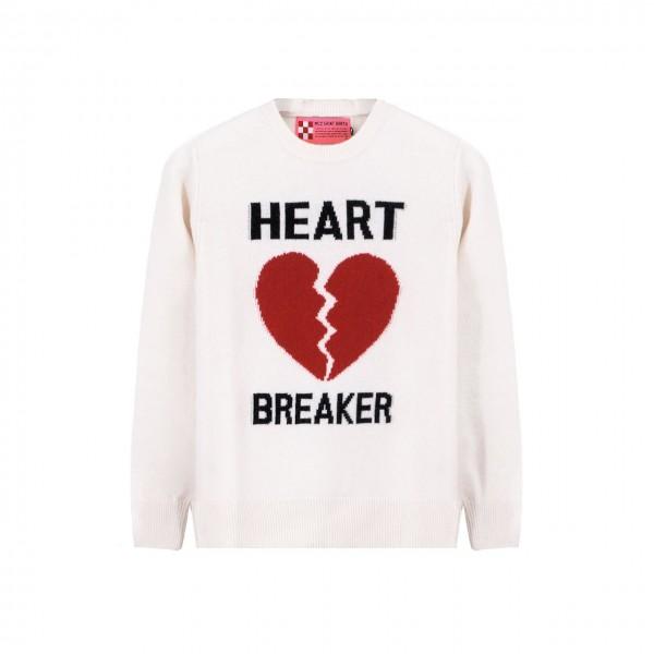 MC2 Saint Barth   Crewneck Sweater Heart Breaker, Grigio   MC2_QUE001 HRBR10