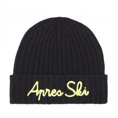 MC2 Saint Barth | Apres Ski Knitted Cap, Black | MC2_WENG001 EMAS09