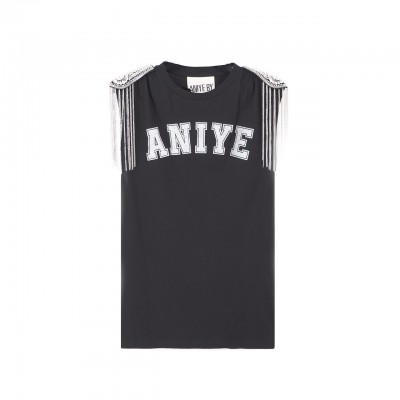 Aniye By | T-Shirt Military Logo, Nero | ANI_131265 00002