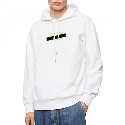 Diesel | S-Girk-Hood-S1 Sweatshirt, White | DSL_00SGUW 0KAXU 100