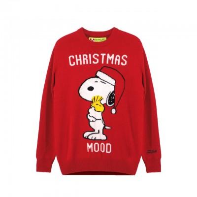 MC2 Saint Barth   Round Neck Sweater Xmas Snoopy, Rosso   MC2_XMSN41 SNOOPY 41