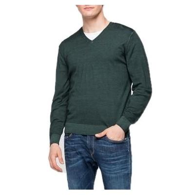 Replay | V-neck Sweater, Green | RPY_UK3058.000.G21900 135