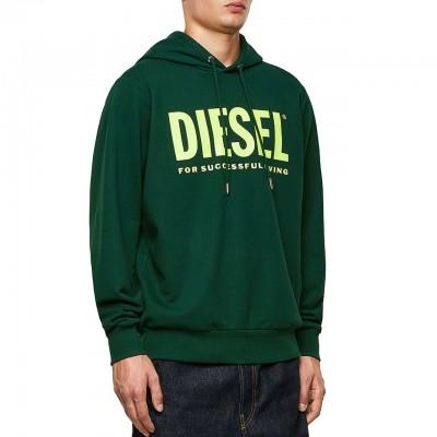 Diesel | S-Gir-Hood-Division Felpa, Verde | DSL_00SAQJ 0BAWT 5IR