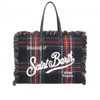 MC2 Saint Barth | Winter Bag Tartan Blu | MC2_VANI004 TRTN61