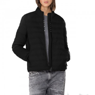 Replay   Lightweight Recycled Nylon Jacket, Black   RPY_W7496A.000.83806 098