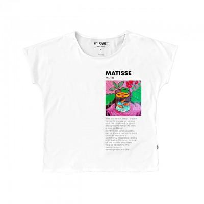 Ko Samui | Art Fauve T-Shirt, Bianco | KSU_TE C37 FAUVE WHT