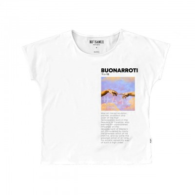 Ko Samui | Art Fresco T-shirt, Bianco | KSU_TE C36 FRESCO WHT