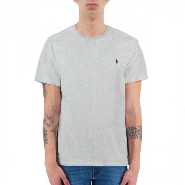 Polo Ralph Lauren   T-Shirt In Cotone Grigio   RLU_714706745003