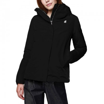 K-Way | Marguerite Thermo Sateen, Nero | KWAY_K007HD0 USY