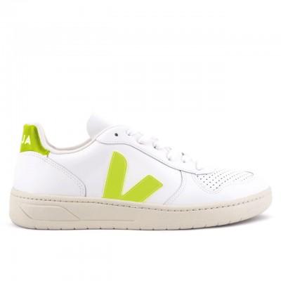 Veja | V-10 Extra White Jaune Fluo Bianco | VJA_VX022086
