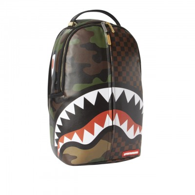 Sprayground | Checks & Camoflague Backpack Marrone | SPR_910B3156NSZ