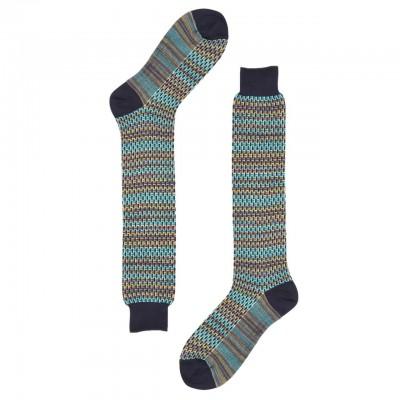 Red Sox | Braided Jacquard Long Sock, Blue | RSX_64886G V2394