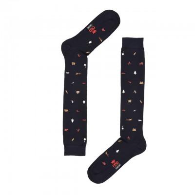 Red Sox | Aspen Long Sock Print, Blue | RSX_62424G V2136