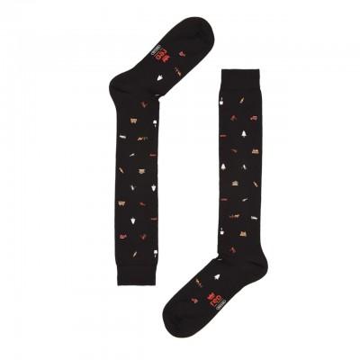 Red Sox | Aspen Print Long Socks, Black | RSX_62424G V0573