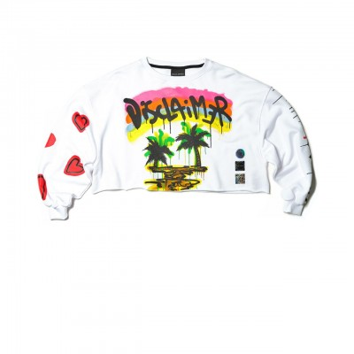 Disclaimer | Cropped Sweatshirt, Bianco | DSC_50663