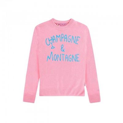 MC2 Saint Barth | Round-Neck Sweater Champagne & Montagne, Rosa | MC2_QUE001 EMCN21