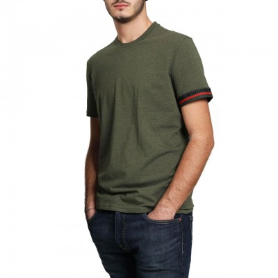 Dsquared2 | Red Lined Cotton T-Shirt, Verde | DSQ_SI D9X203200 302