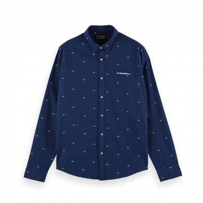 Camicia Con Tasca Coupé, Blu