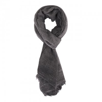 Jacquard Knitted Scarf, Gray