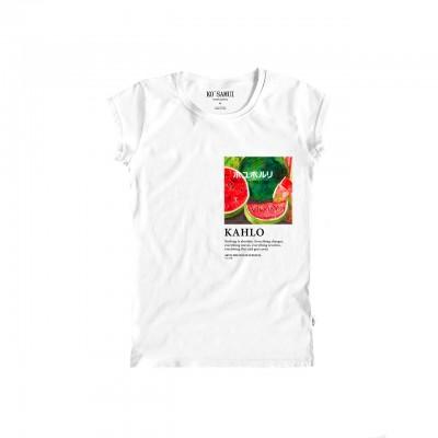 Watermelon Art T-Shirt, Bianco