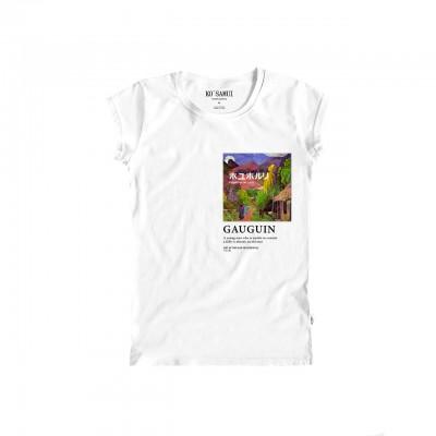 Thaitian Art T-Shirt, Bianco