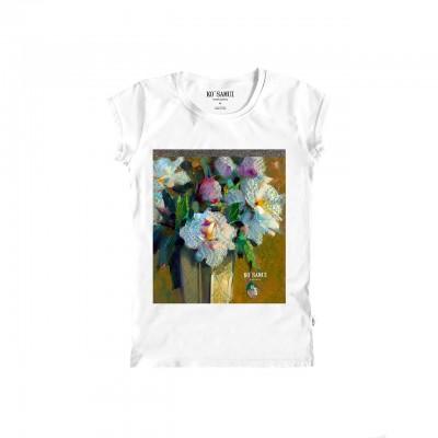 Amphora Shine T-Shirt, Bianco