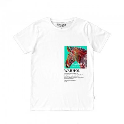 Fluo Art T-Shirt, White