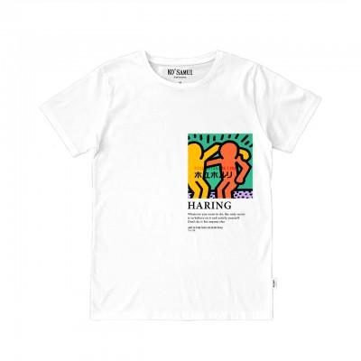 Buddies Art T-Shirt, Bianco