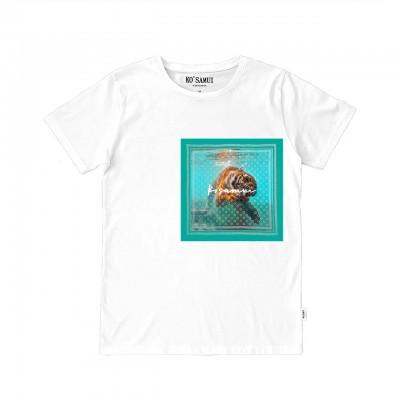 Nibble Bandana T-Shirt, Bianco