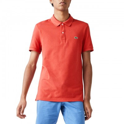 Slim Fit Polo Shirt, Red