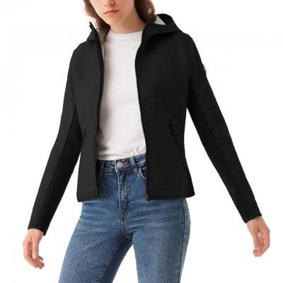 Slim Fit Hooded Jacket, Black