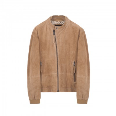 Madras Leather Jacket, Brown