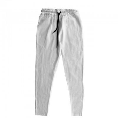 Basic Linen Trousers, White