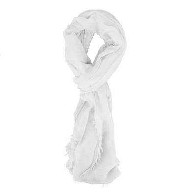 Sciarpa Con Frange, Bianco
