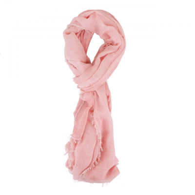 Scarf With Fringes, Pink